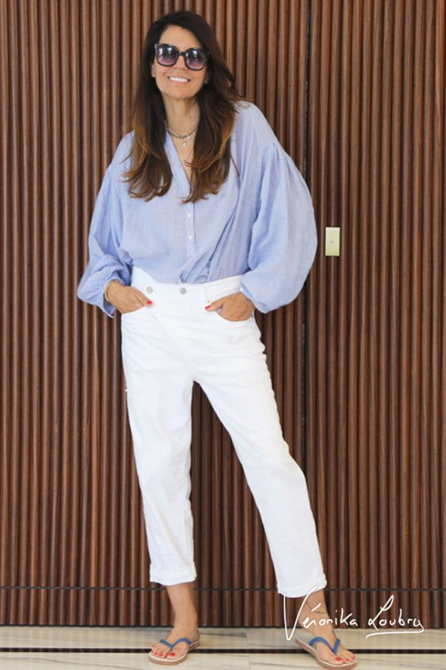Mary boyfit destroy  jeans blanc by Véronika Loubry
