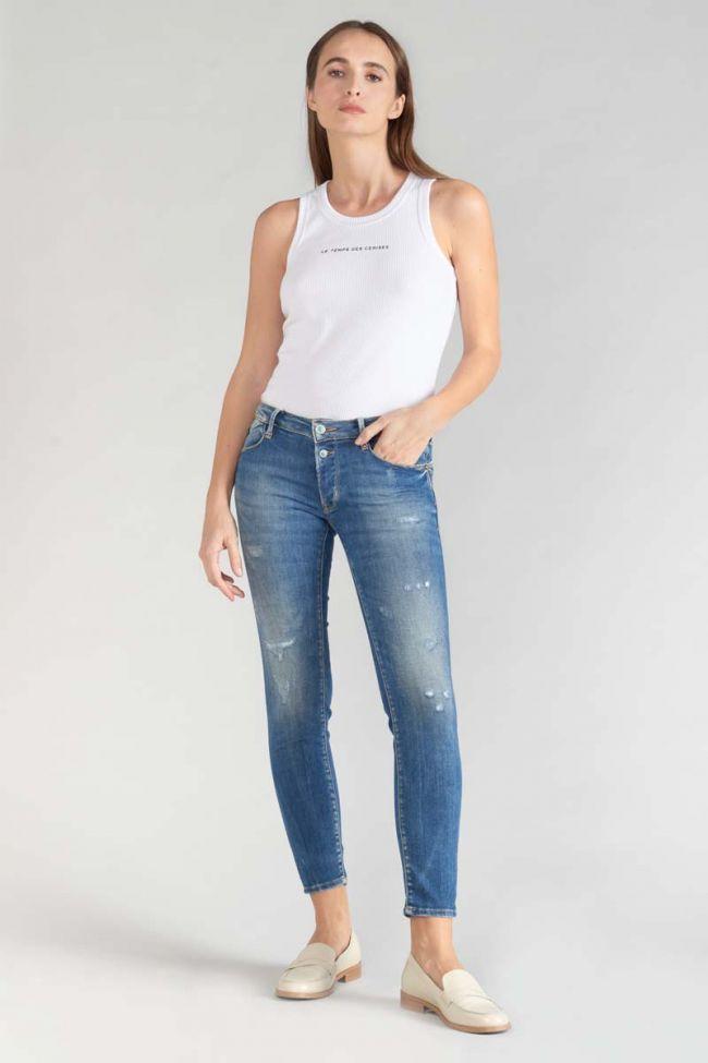 Fino pulp slim 7/8th jeans destroy blue N°3