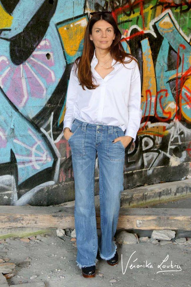 Marcel flare by Véronika Loubry blue jeans N°4