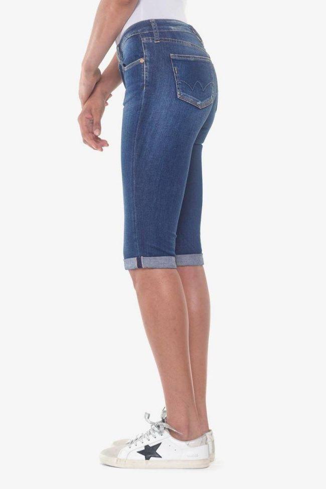 Corsaire en jeans Mandy bleu