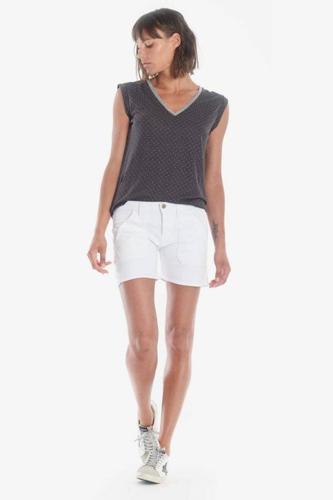 White denim Olsen2 shorts