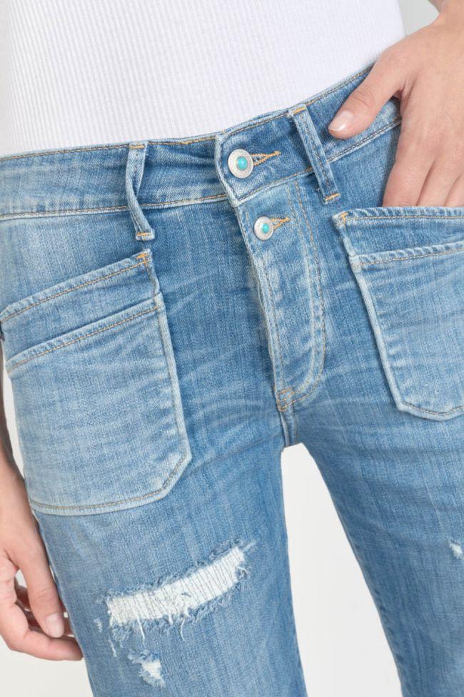 Pricillia high waisted 7/8th jeans destroy blue N°4