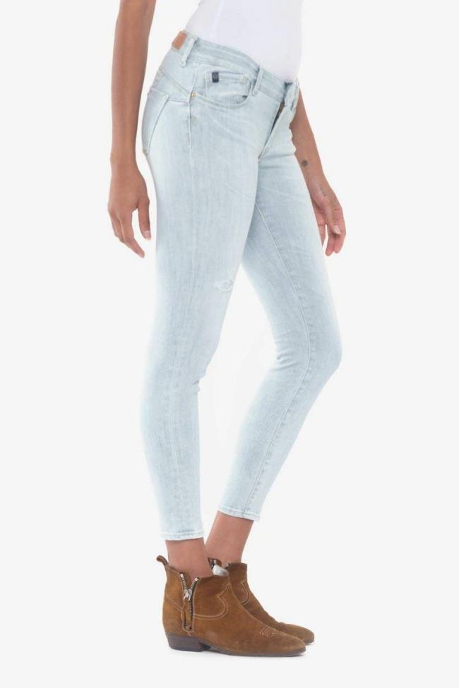 Pulp slim 7/8ème destroy jeans bleu N°5