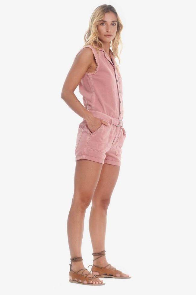 Combi-short en jeans Zumba rose