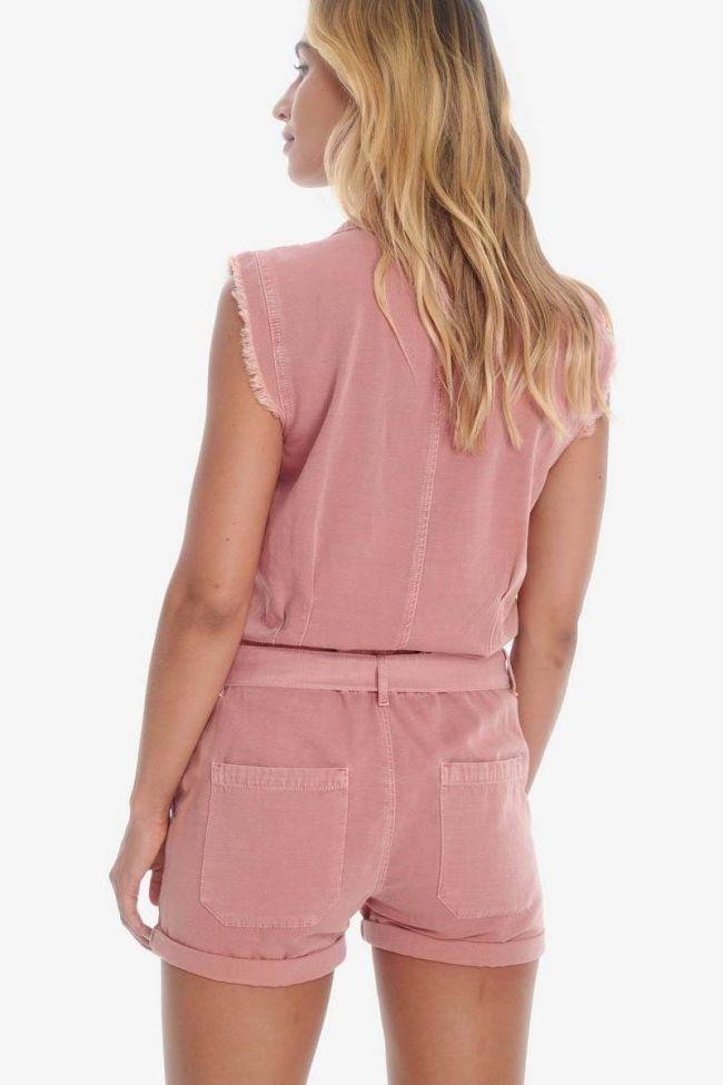 Pink denim Zumba jumpsuit