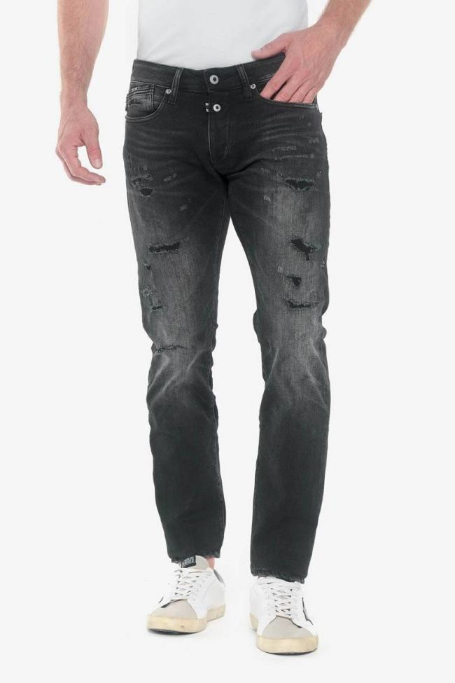 Gazhar 700/11 slim jeans destroy noir N°1