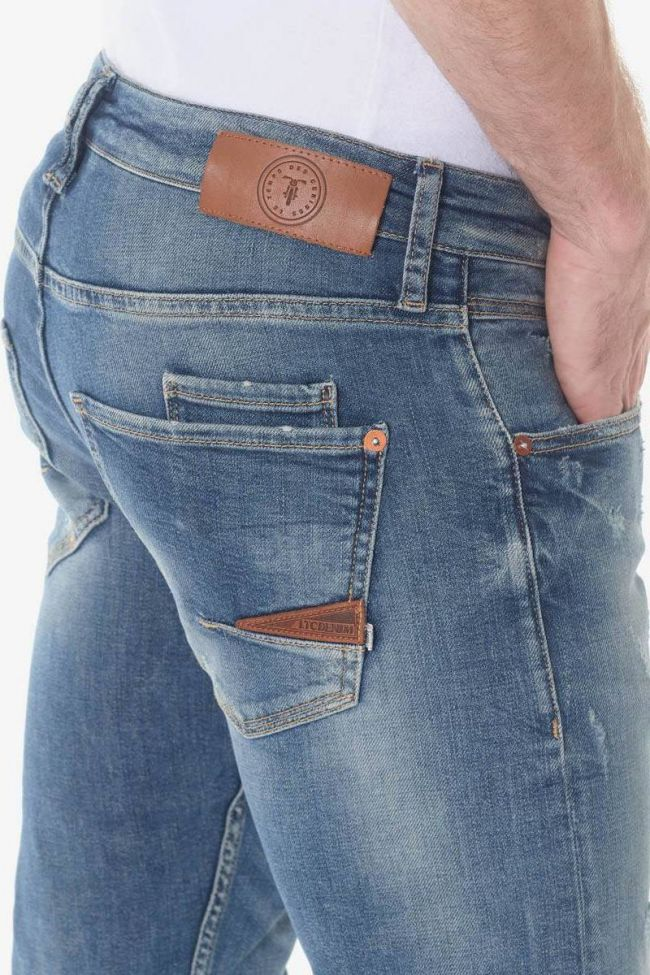 Milo 700/11 slim jeans destroy vintage bleu N°3