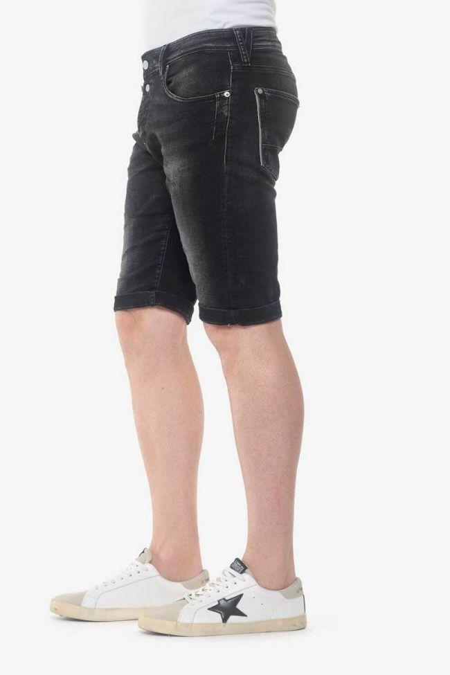 Stonewashed black Jogg Ed bermuda shorts