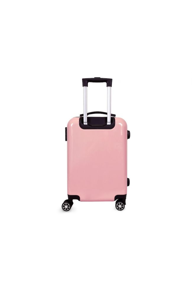 Valise Plume Ana Rêve rose extensible