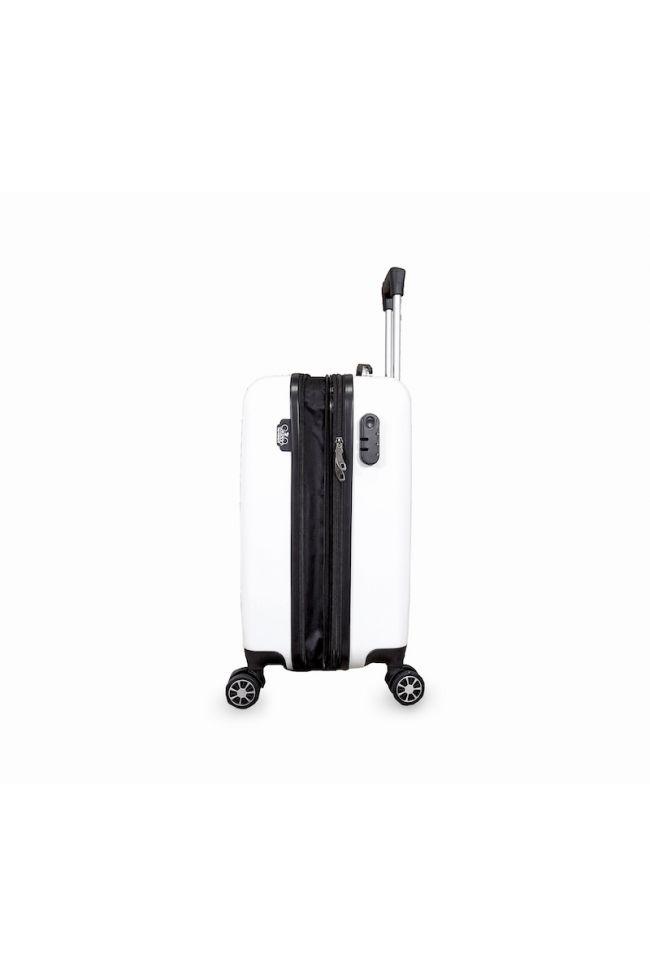 Set de 3 valises Plume Ana Rêve blanches extensibles