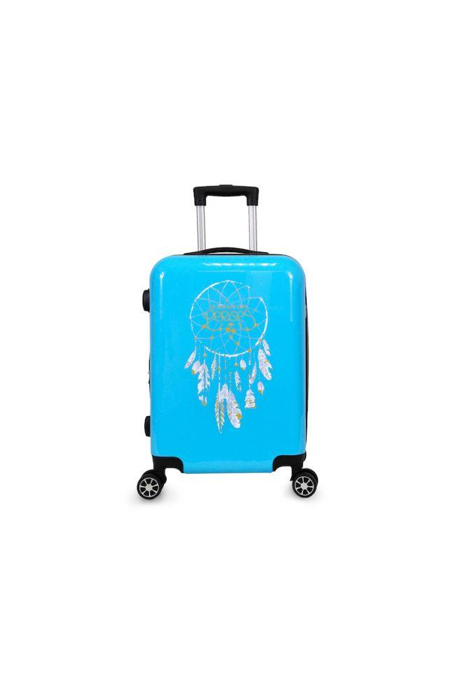 Set de 3 valises Plume Ana Rêve bleues extensibles
