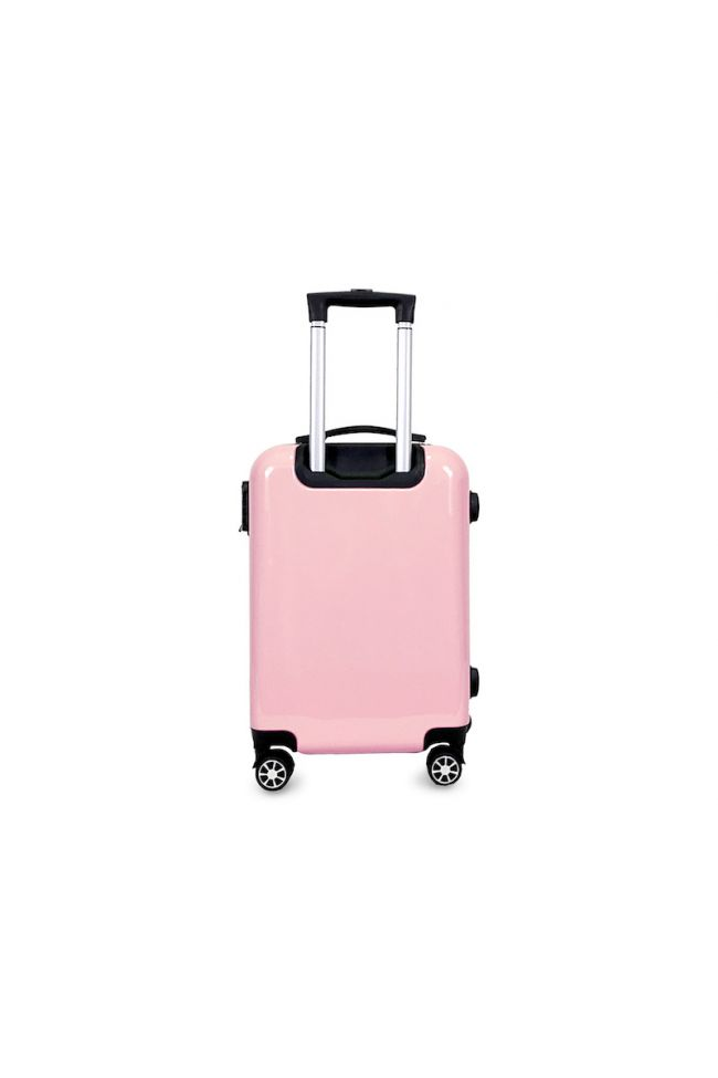 Set de 2 valises Saya Plume roses extensibles