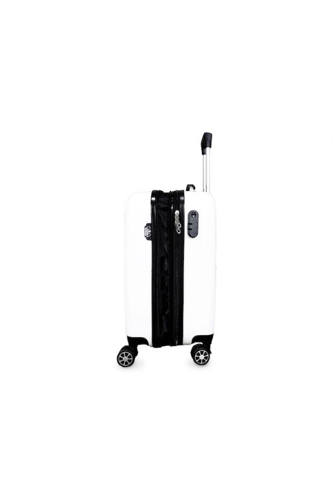 Set de 3 valises Saya Plume blanches extensibles