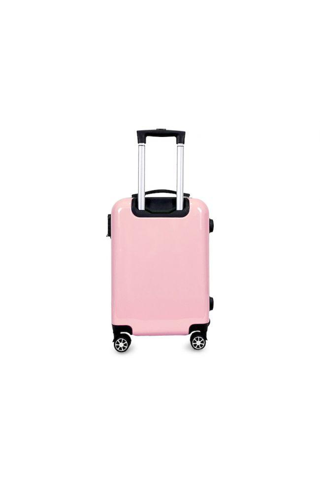 Set de 3 valises Saya Plume roses extensibles