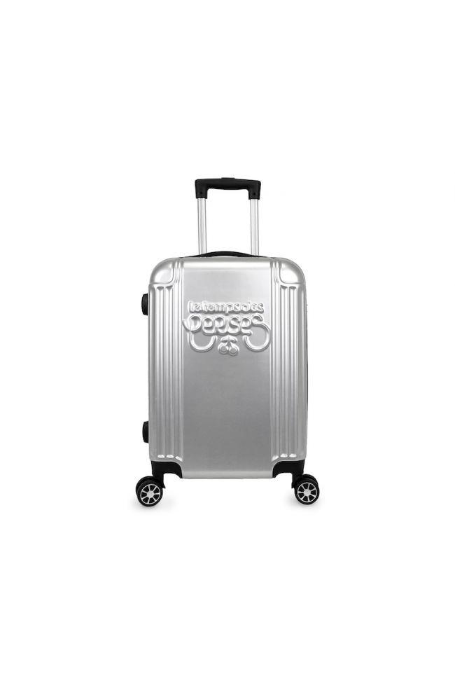 Set de 3 valises Eyden argentées extensibles