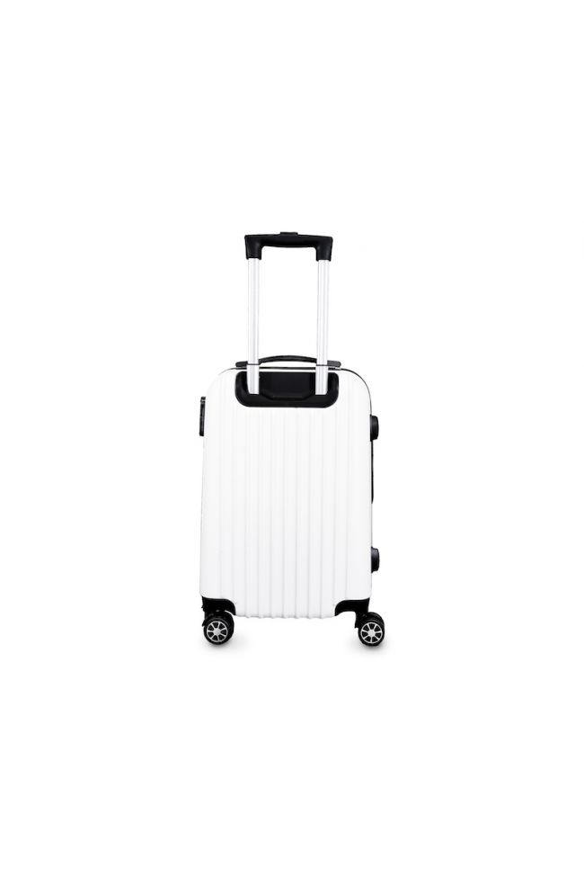 Valise Victoria blanche extensible