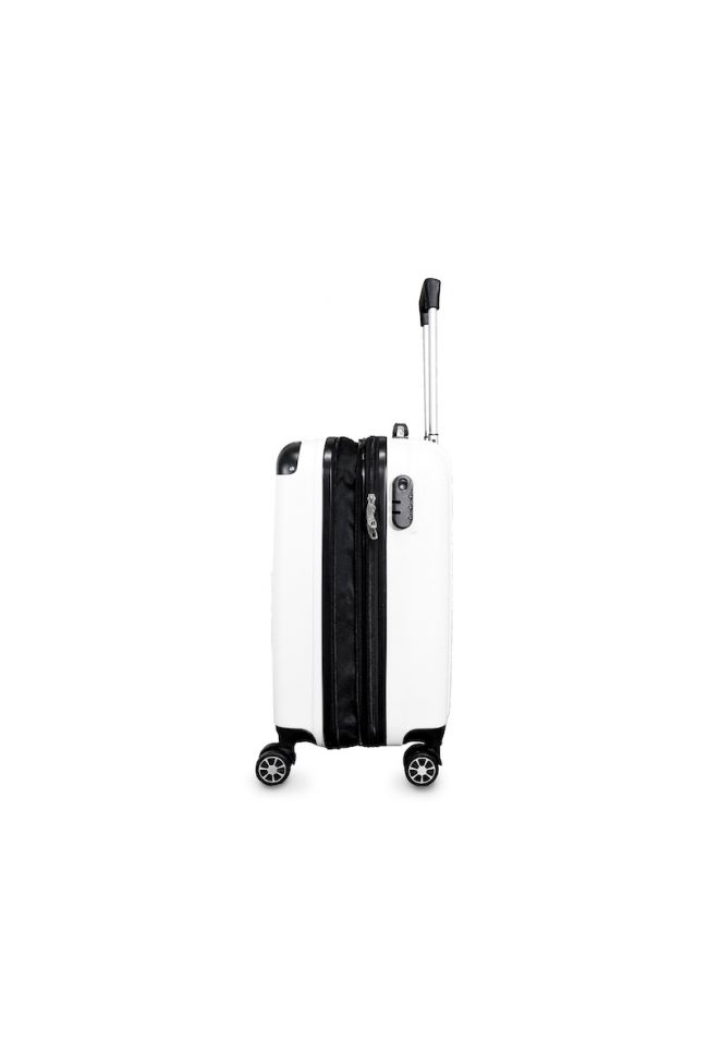 Set de 3 valises Victoria blanches extensibles
