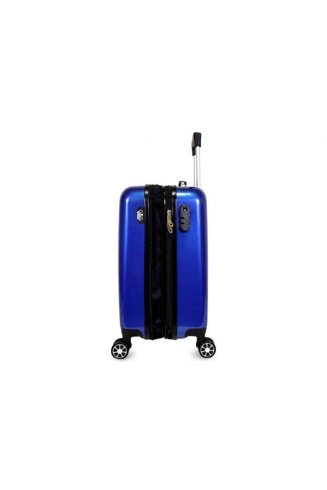 Valise Plume Yna bleue extensible