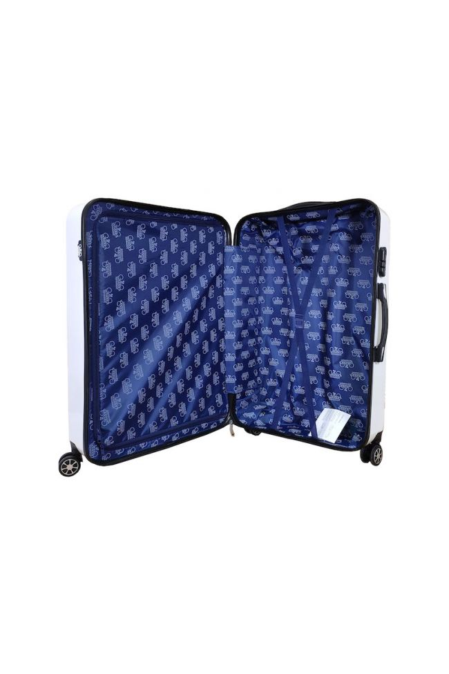 Set de 3 valises Yna blanches extensibles