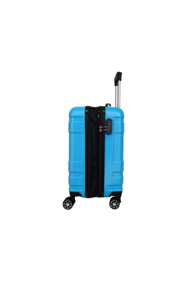 Valise Lyra bleue extensible