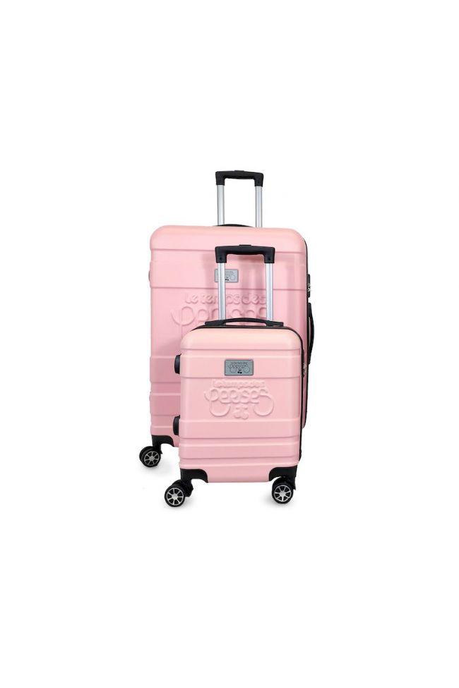 Set de 2 valises Lyra roses extensibles