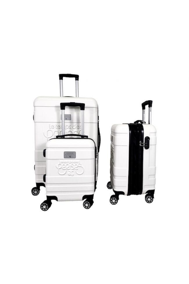 Set de 3 valises Lyra blanches extensibles