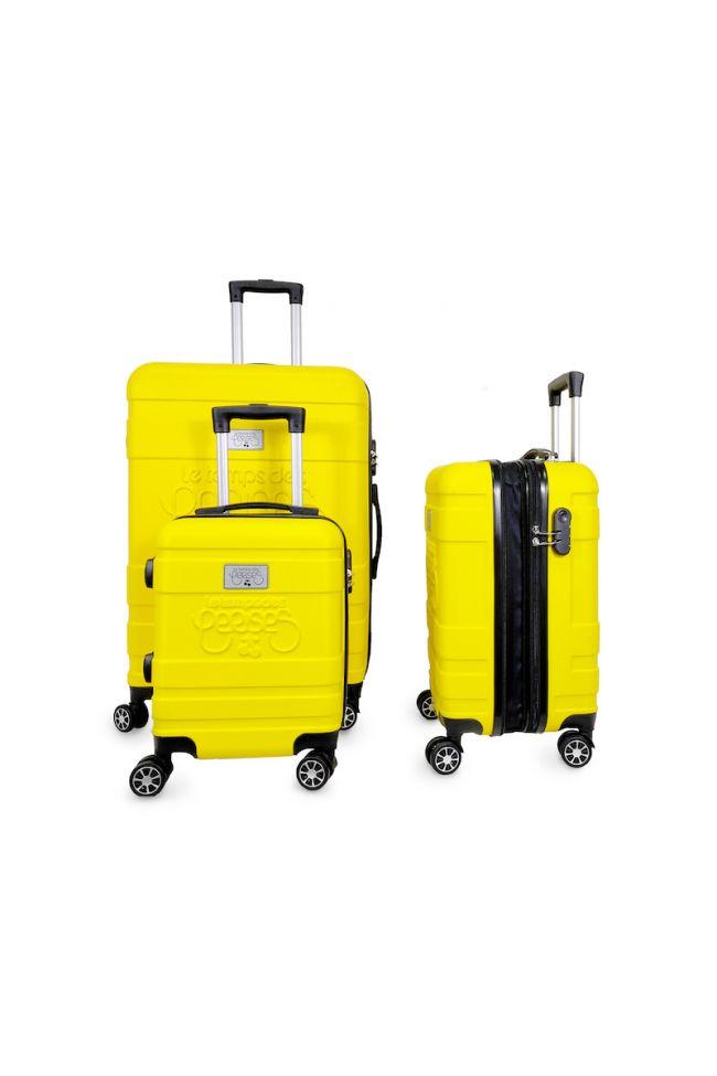 Set de 3 valises Lyra jaunes extensibles