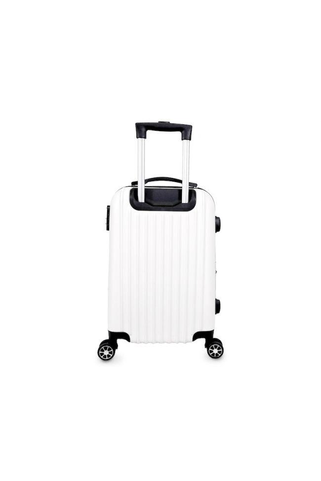 Set de 2 valises Nela blanches extensibles