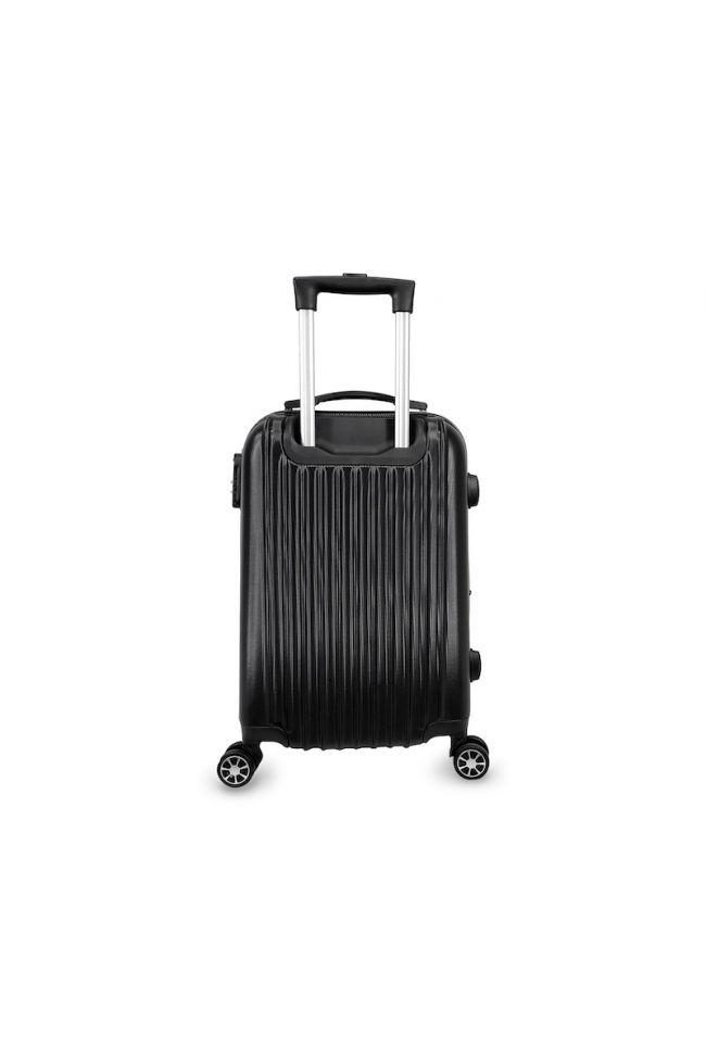 Set de 3 valises Nela noires extensibles