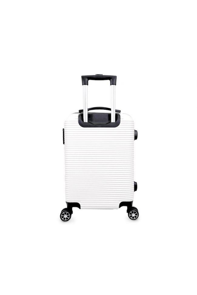 Valise Maysa blanche extensible