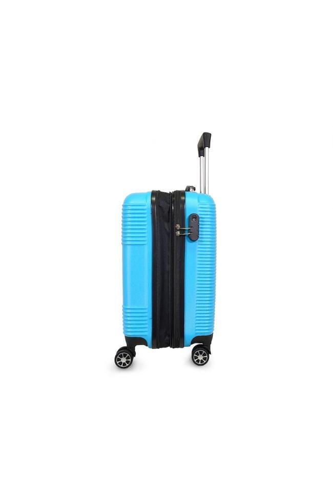 Valise Maysa bleue extensible