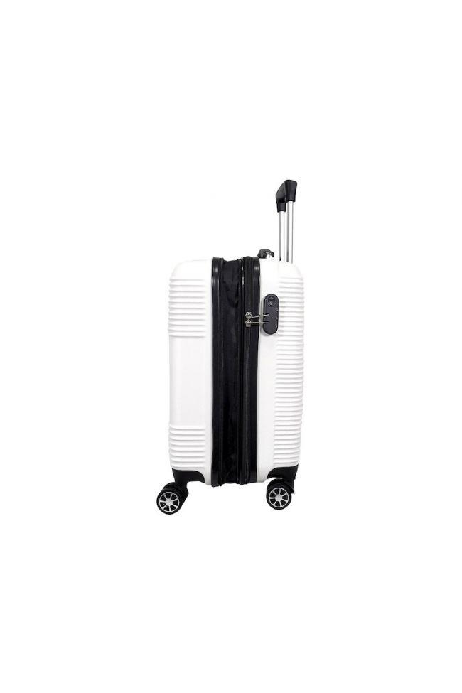 Set de 2 valises Maysa blanches extensibles