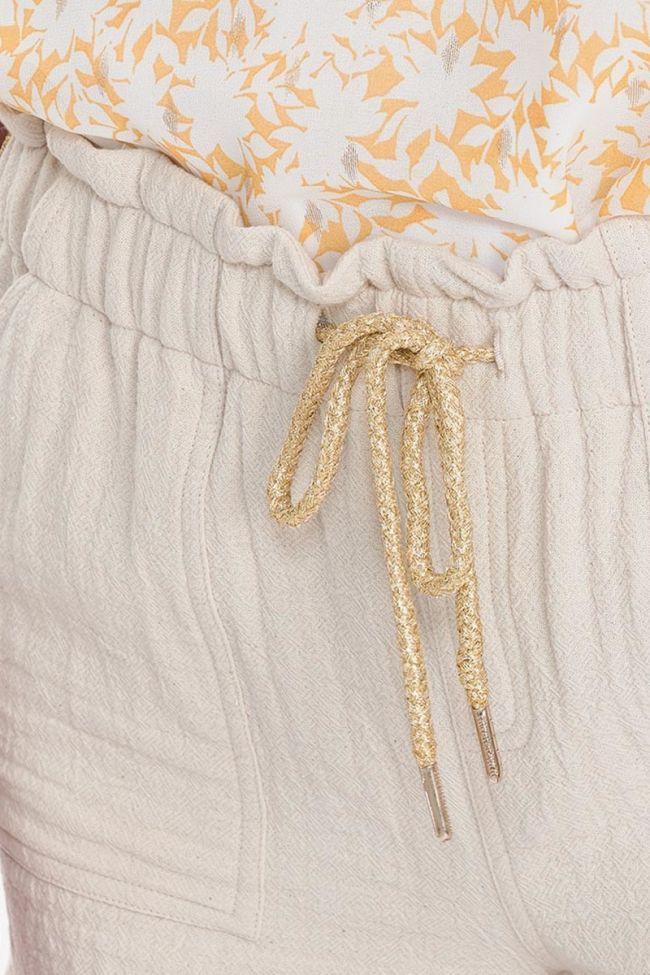 Cream Elda shorts