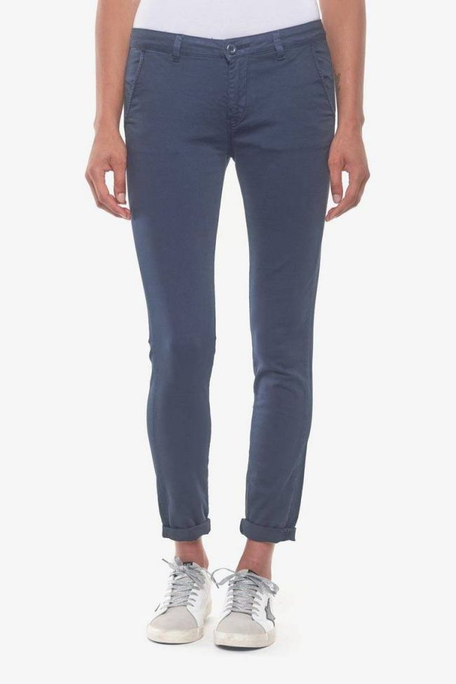 Navy blue Lidy8 chino trousers