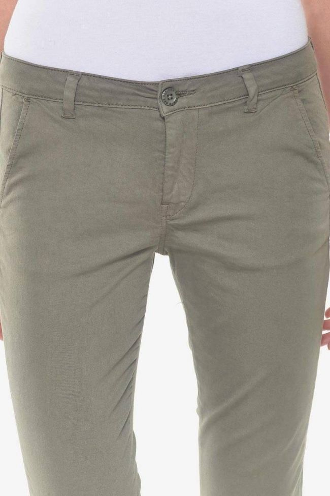 Pantalon chino Lidy8 kaki
