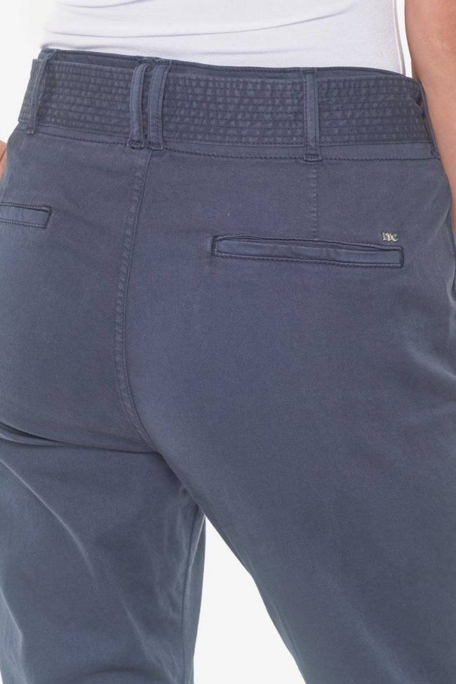 Navy blue Serena high waisted chino trousers