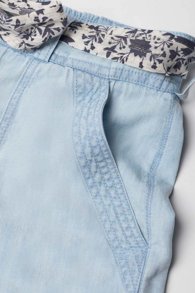 Short Britanygi en jeans bleu