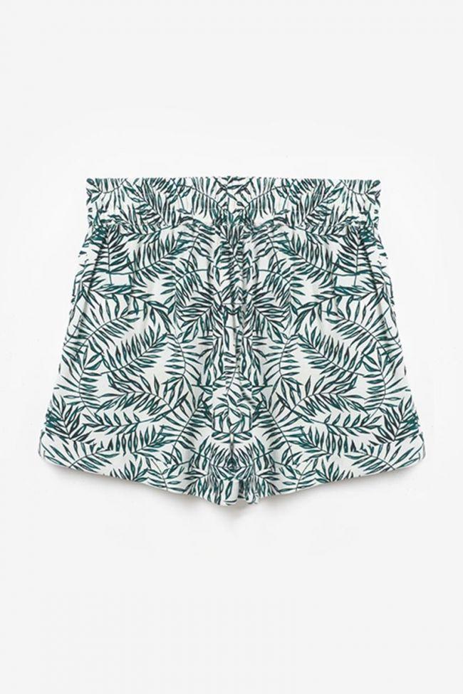 Green floral pattern Mineogi shorts