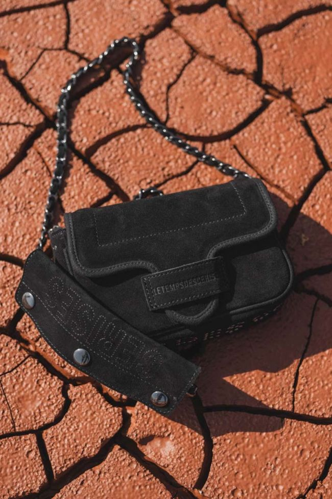 Black Klelia suede bag