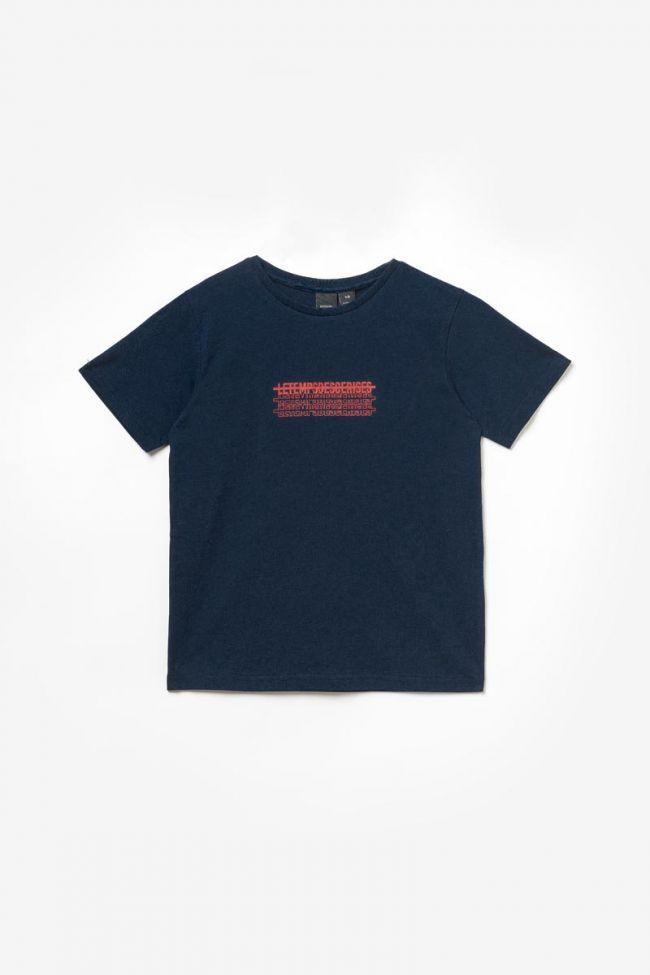 T-shirt Iowabo bleu marine imprimé