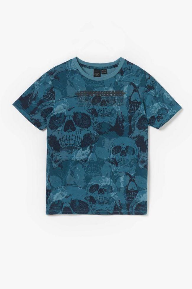 T-shirt Shenkobo imprimé bleu