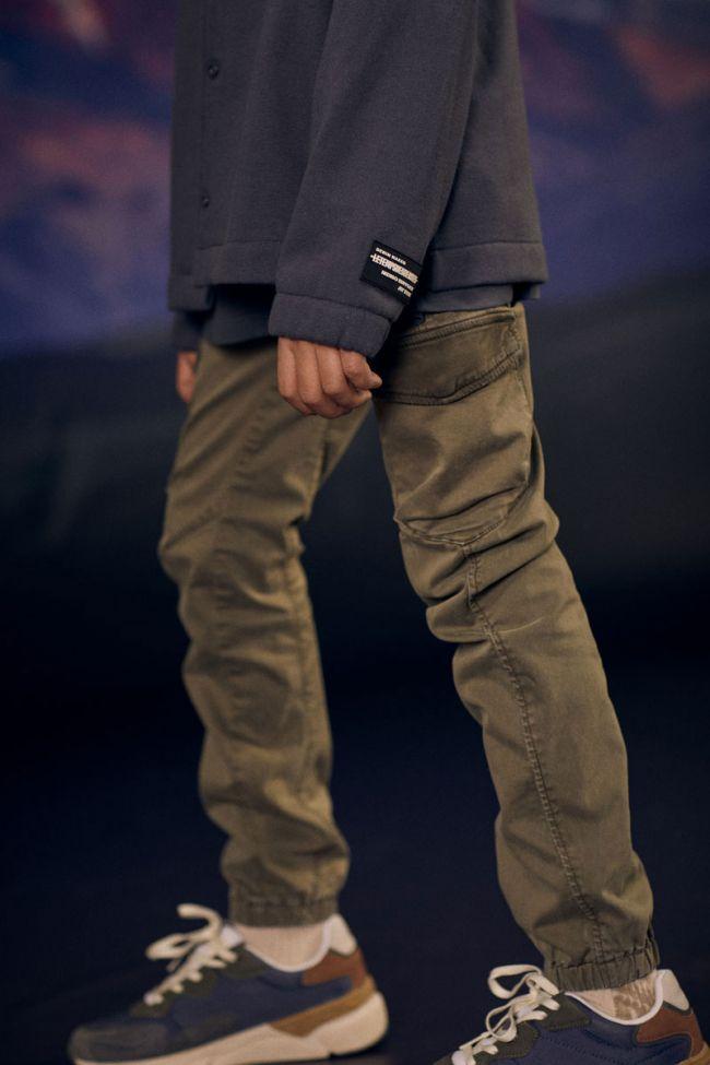 Tapered khaki Tobati trousers