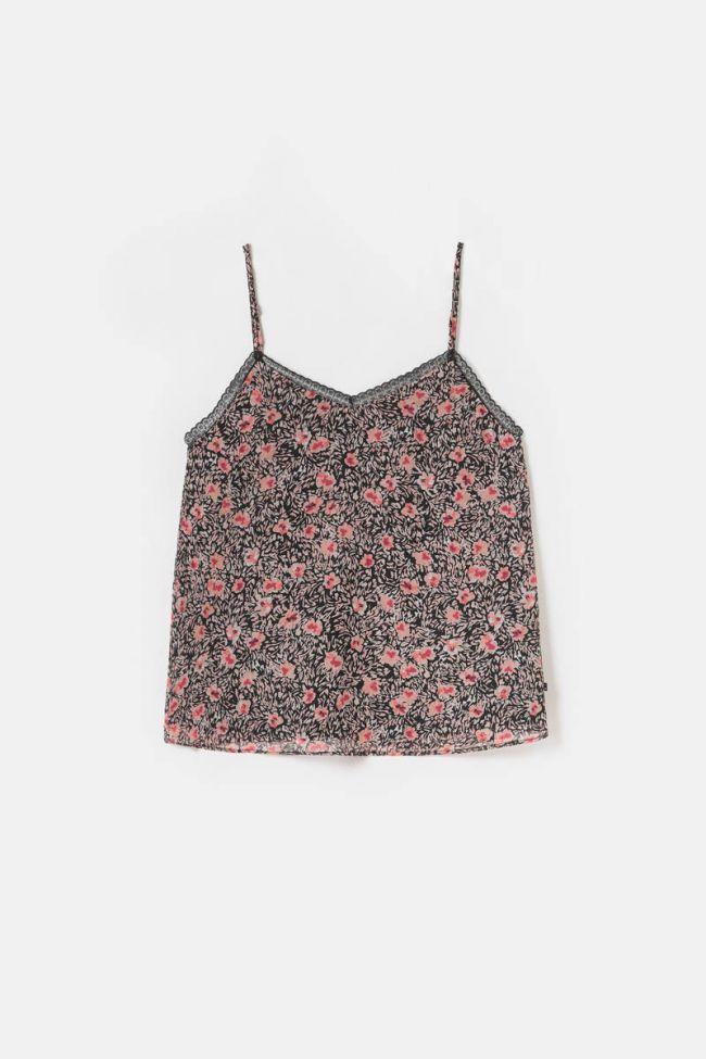 Caraco Abry à motif fleuri rose
