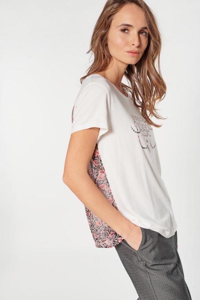 T-shirt Carlotta crème imprimé