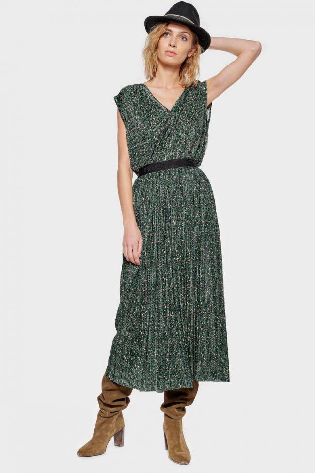 Green leopard Chrystal skirt