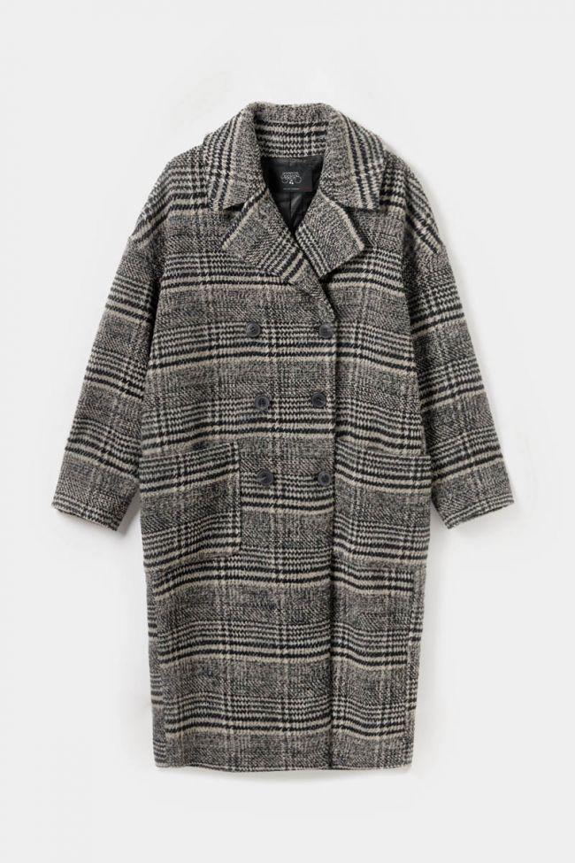 Manteau Darlene à gros carreaux marron