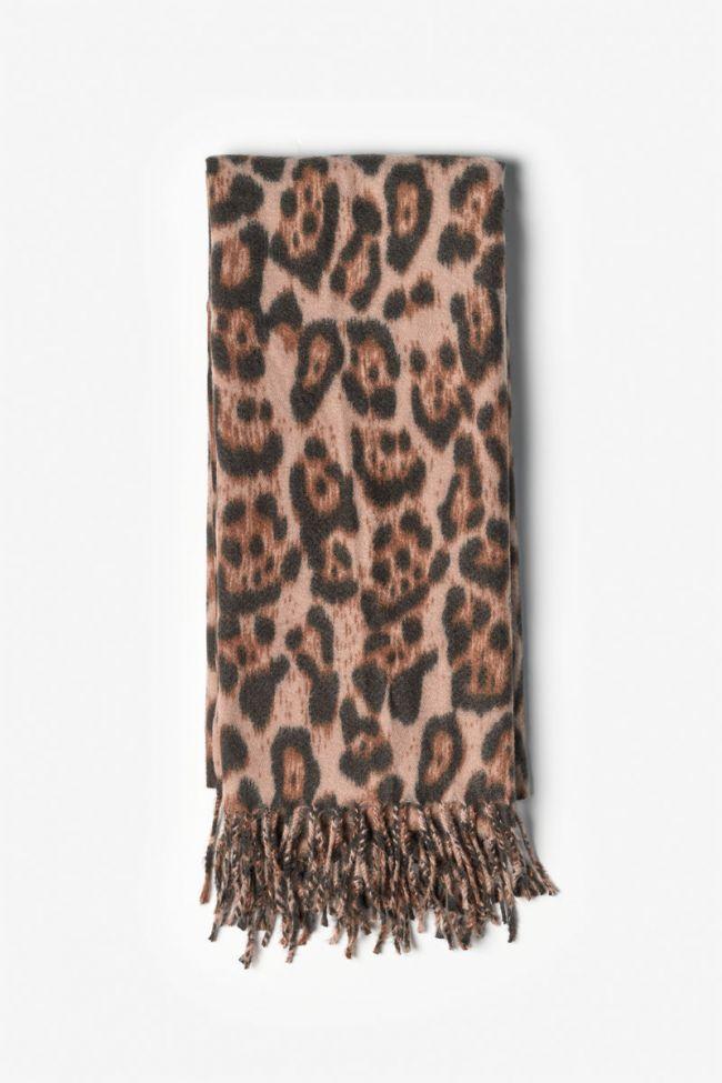 Leopard print Flora scarf
