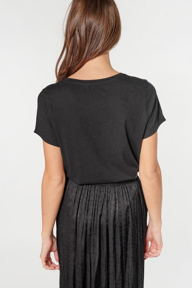 Printed black Frankie t-shirt
