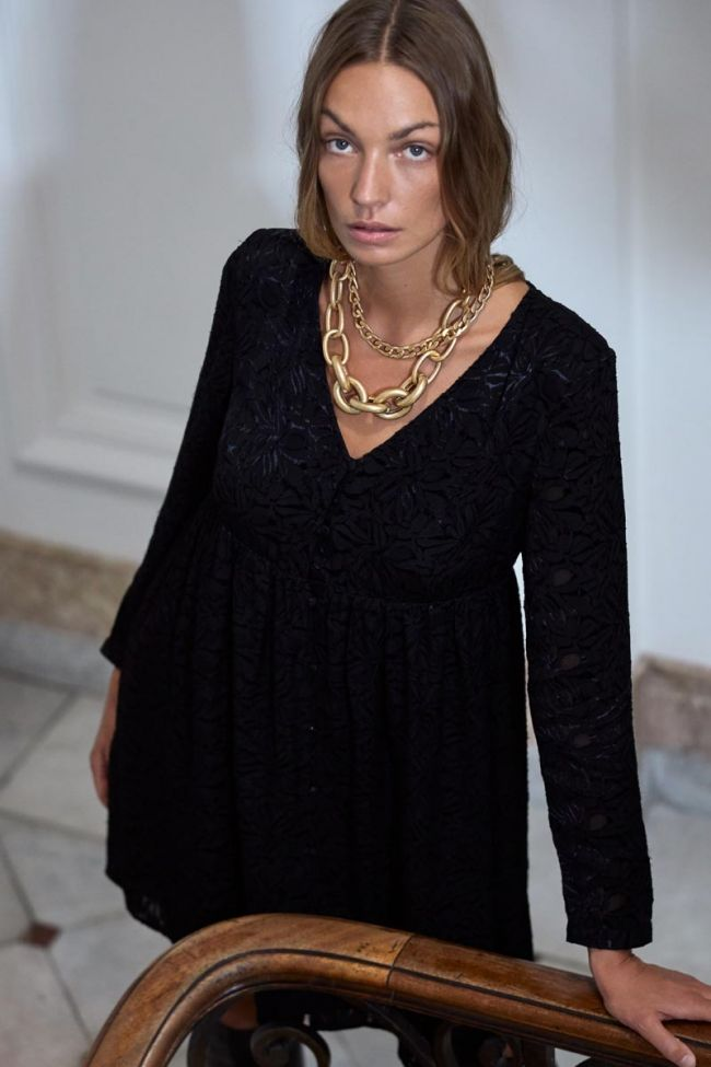 Robe Iron en jacquard noire