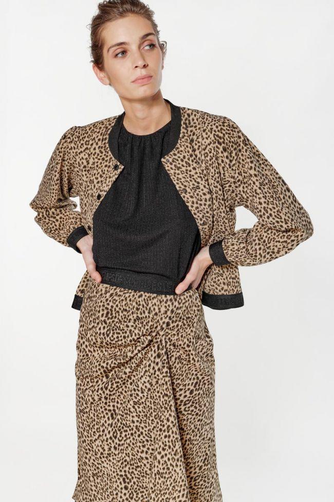 Veste teddy Ivanoe léopard